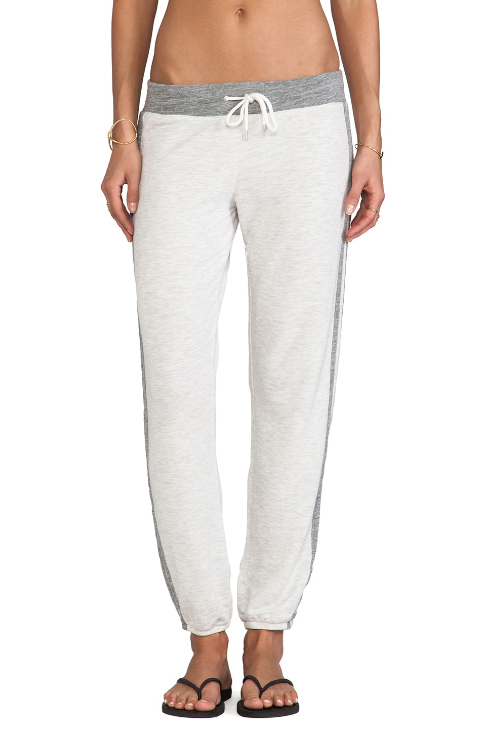 MONROW Color Block Sweats in Ash