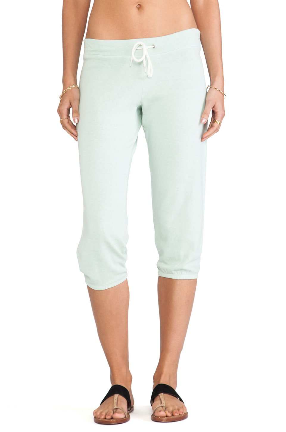 MONROW 3/4 Vintage Sweat Pant in Seafoam