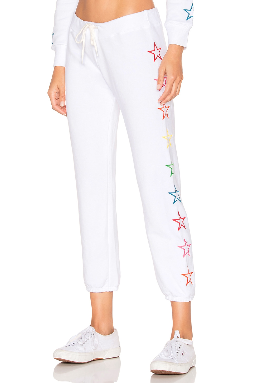 MONROW x REVOLVE Vintage Rainbow Stars Sweatpants in White