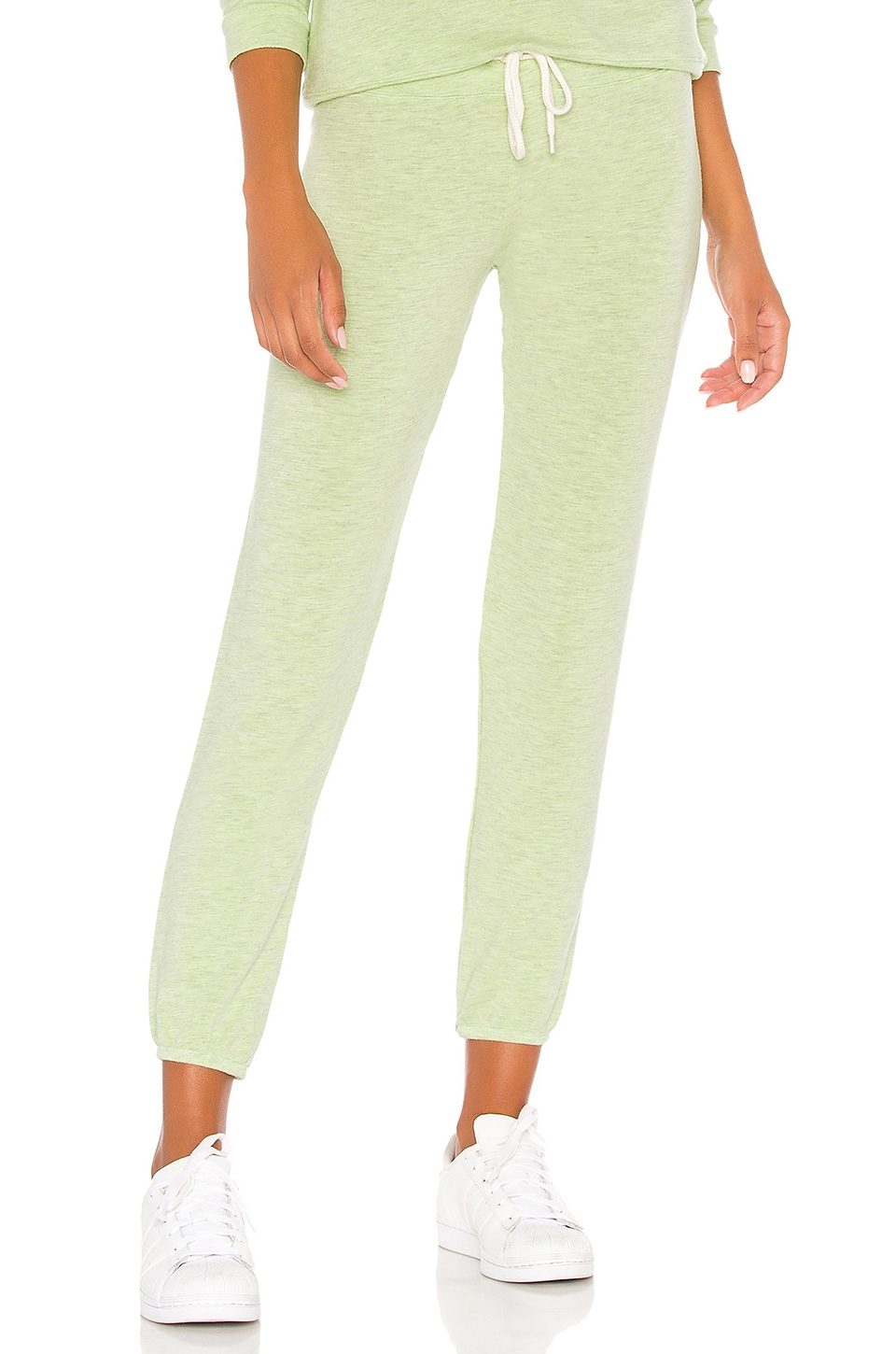 MONROW Vintage Sweats in Wasabi