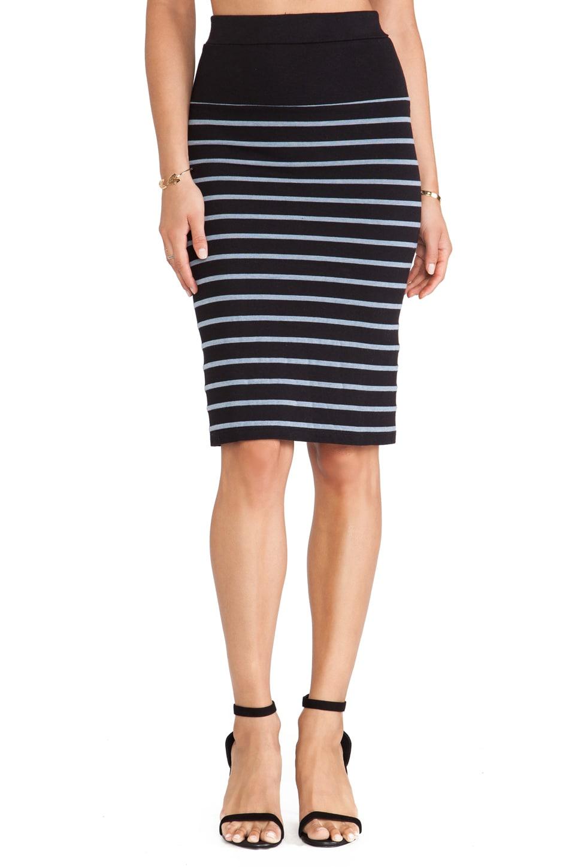 MONROW Skinny Skirt in Black