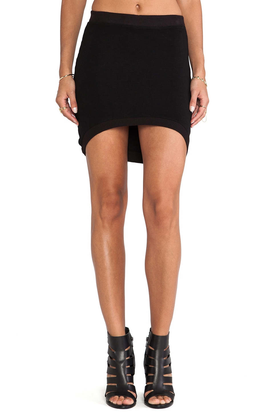 MONROW Basics Curve Skirt in Black