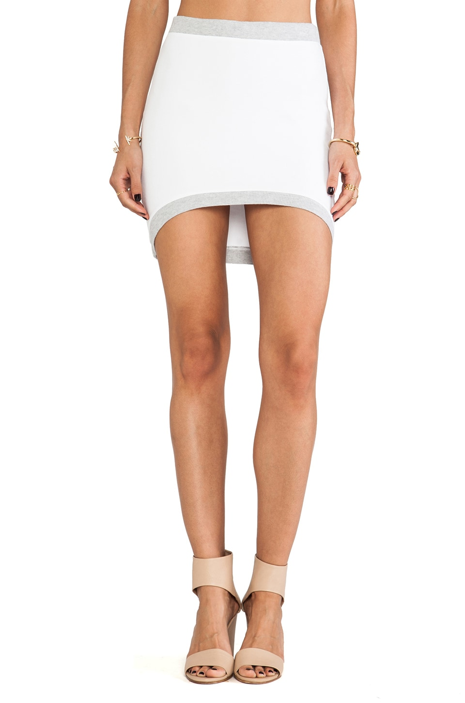 MONROW Basics Curve Skirt in White