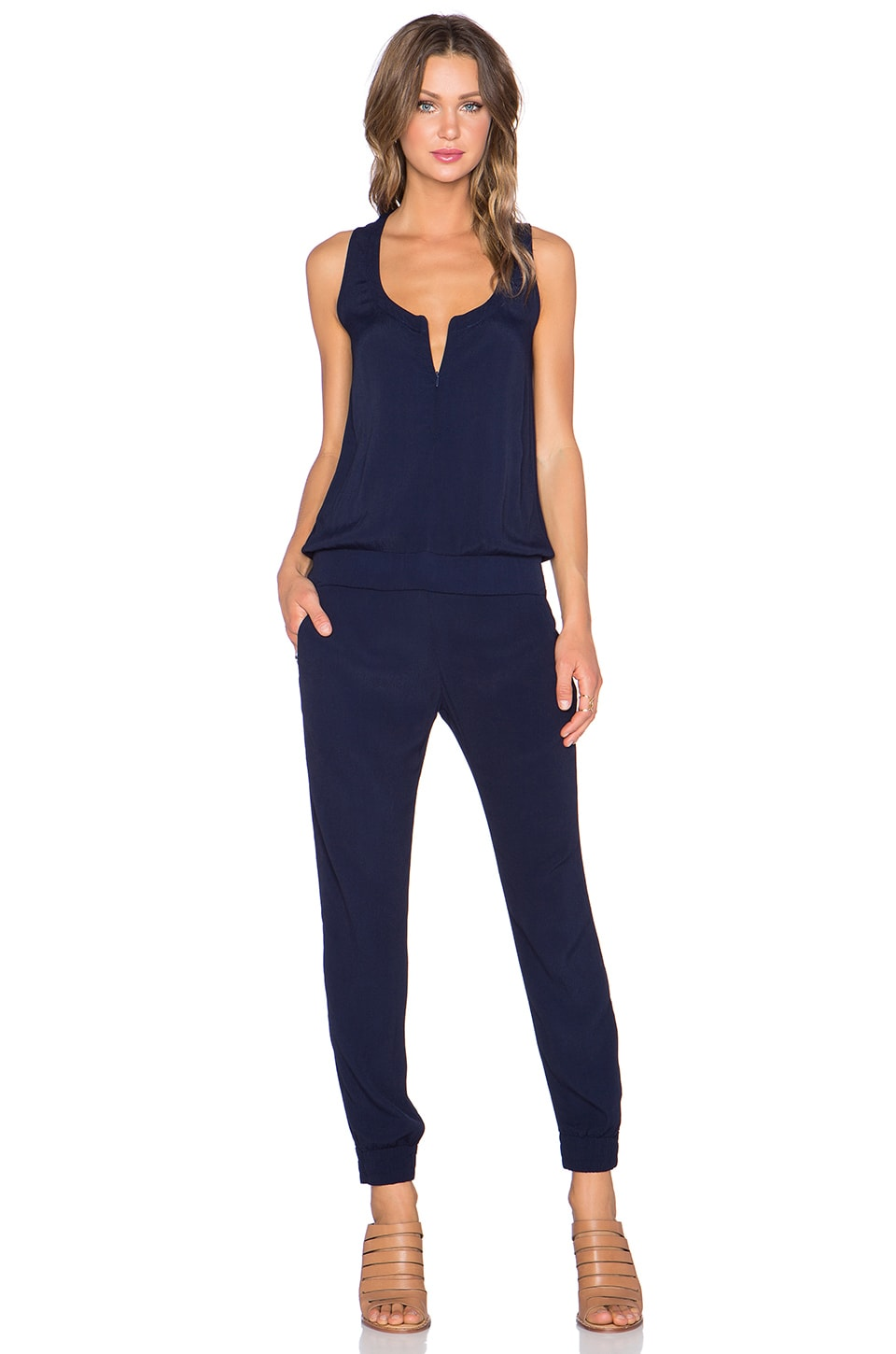 MONROW Jumpsuit in Navy/Revolveclothing.com/ $158.00