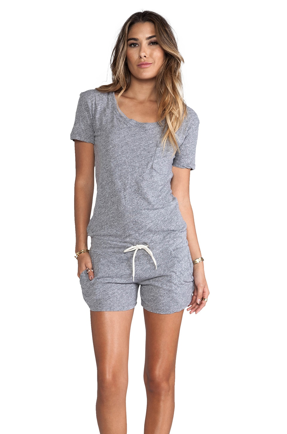 MONROW Romper in Granite