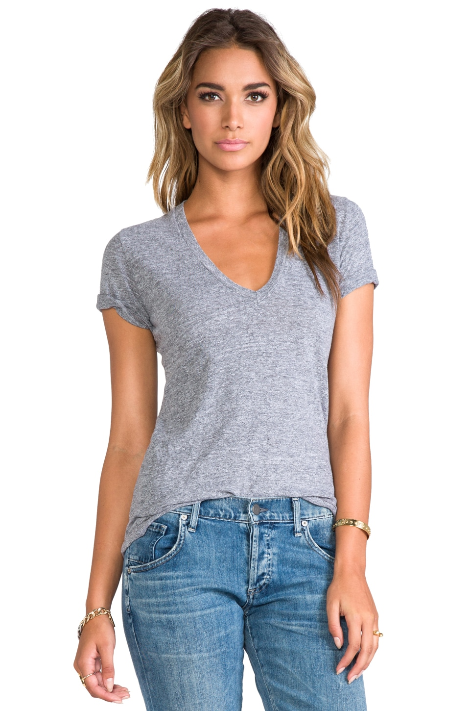 MONROW V-Neck in Granite