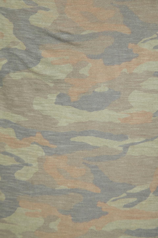 MONROW Camo Print Rock Tee in Army
