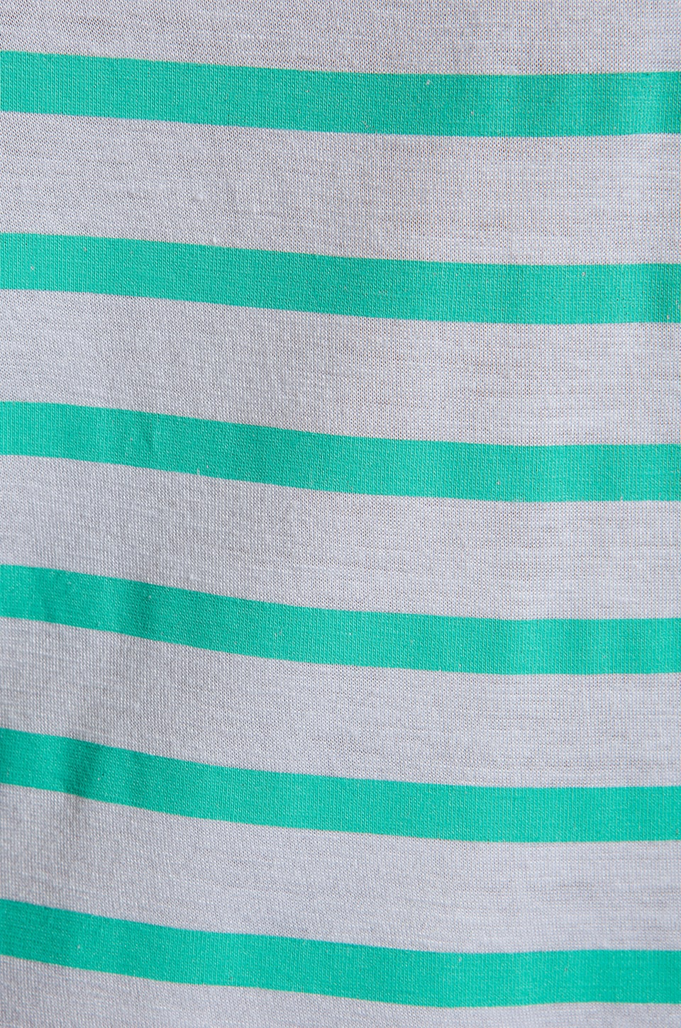 MONROW French Stripe Tee in White/Mint