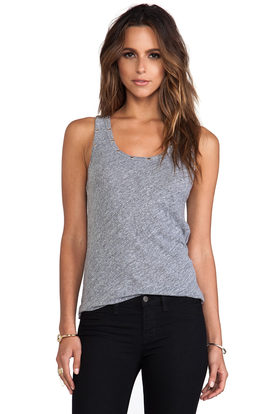 MONROW Eyelets Oversized Tank in Granite