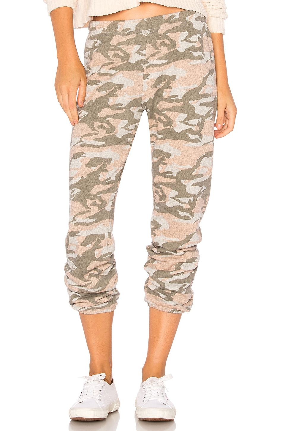 MONROW Camo Sweatpants in Dusty Pink Camo