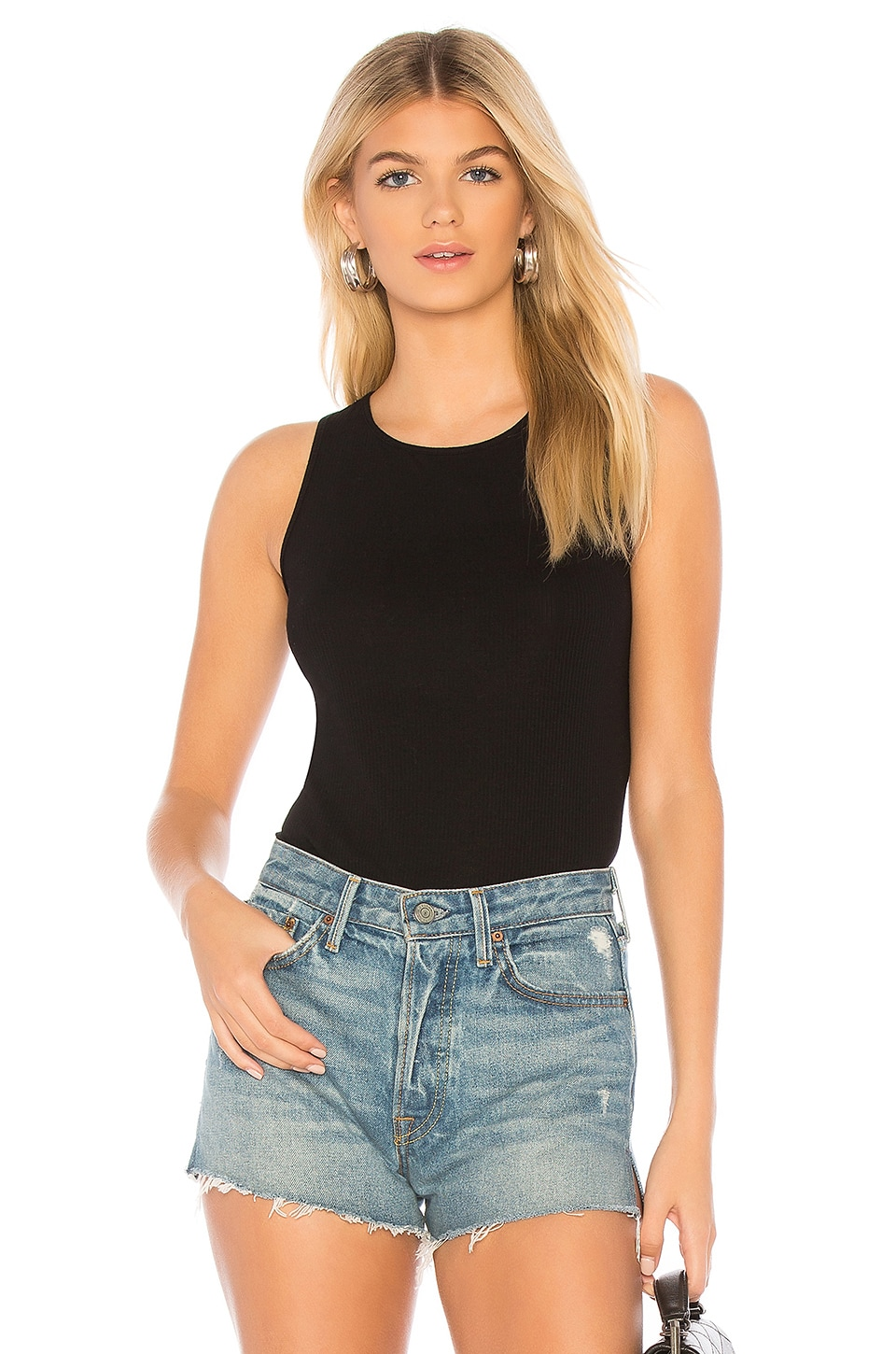 MONROW High Neck Tank in Black
