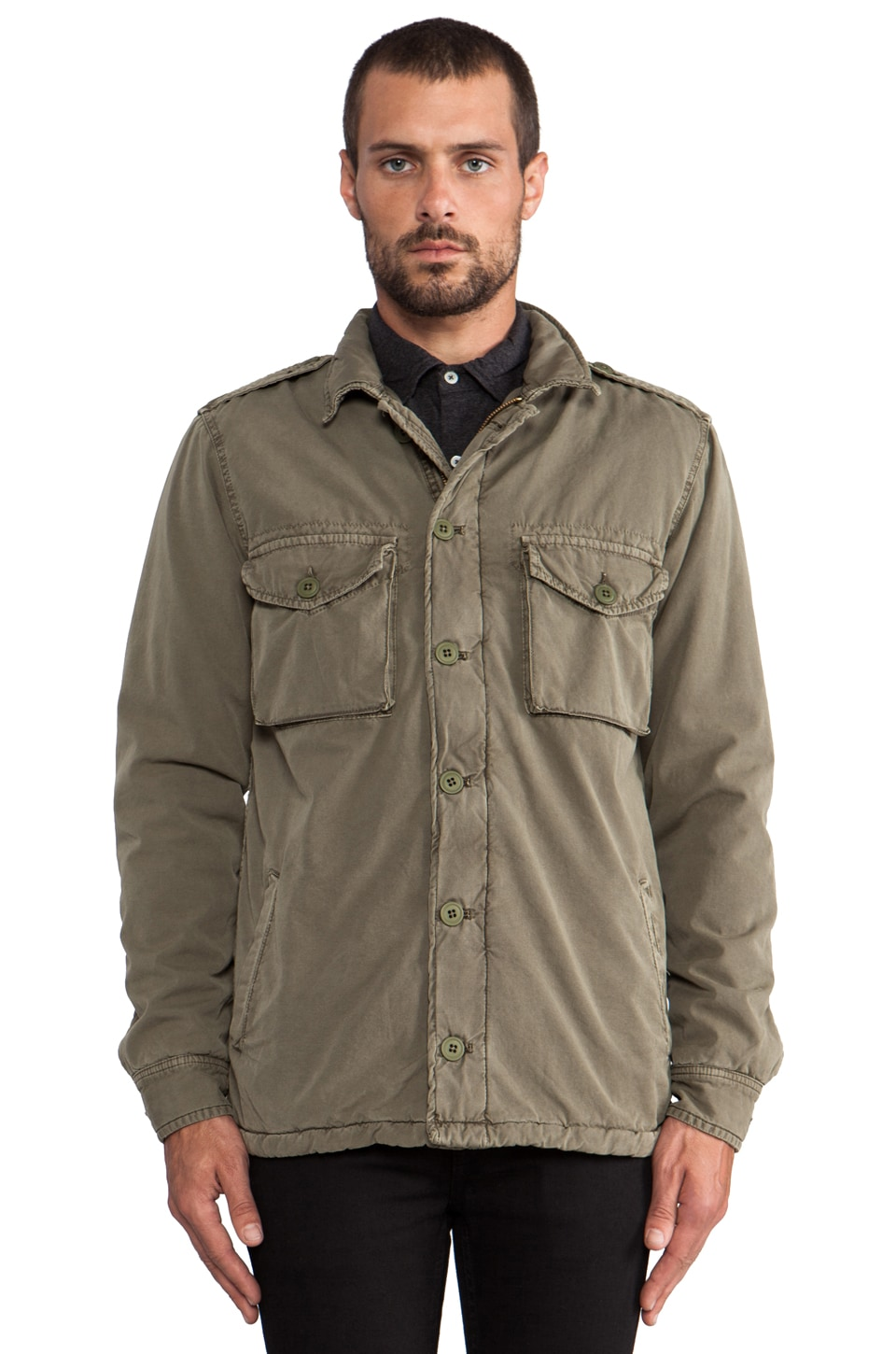 Hartford Army Jacket in Army Green