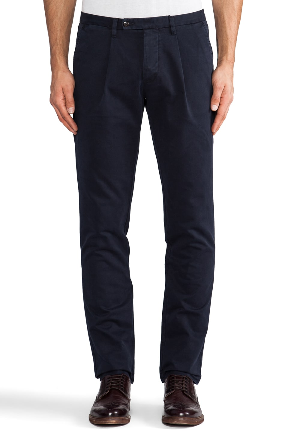 Hartford Chino Slim Leg in Midnight Navy