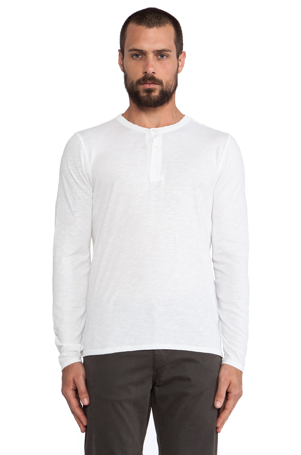 Hartford Jersey Henley in White