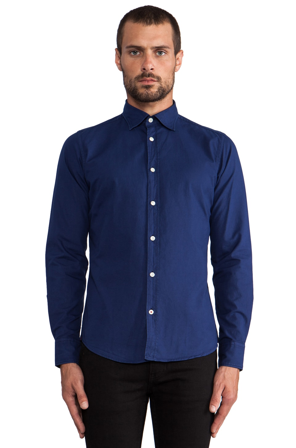 Hartford Thomas Mason Button Down in Royal