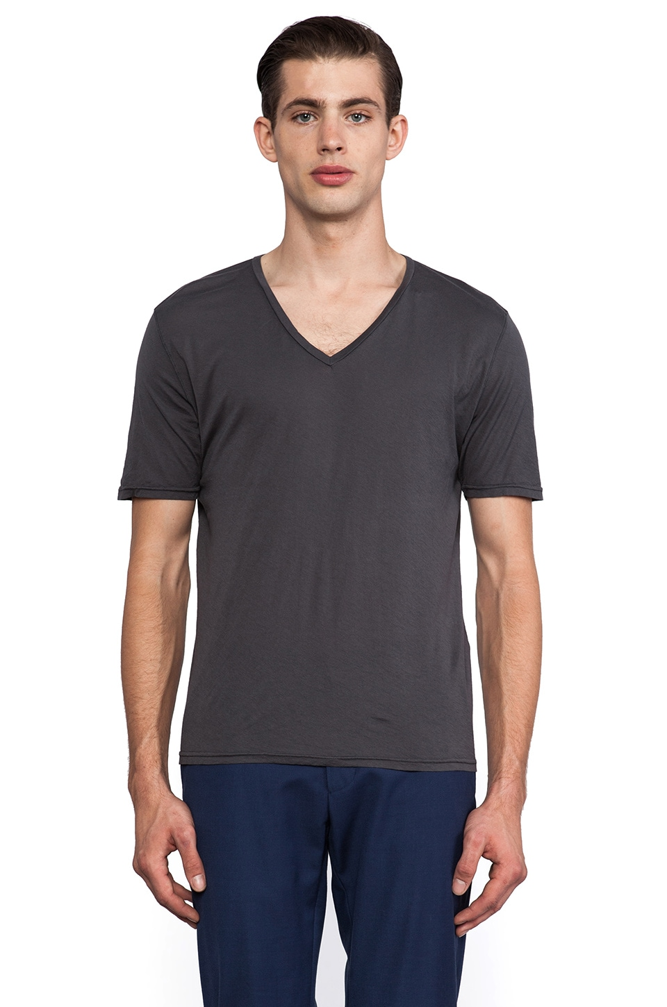 Hartford Jersey V Neck in Carbon