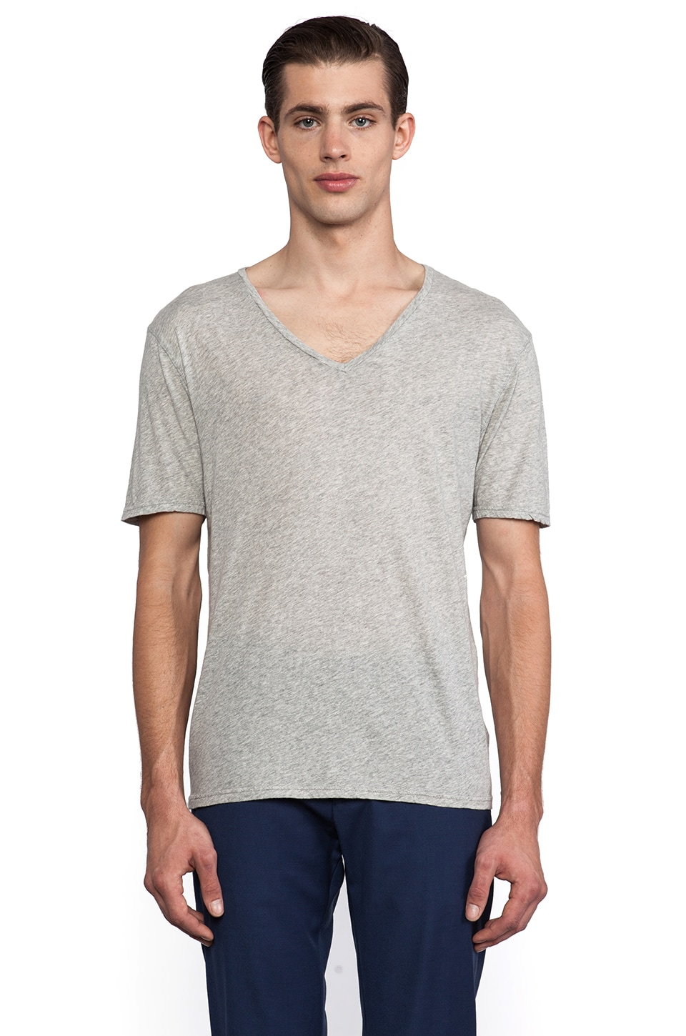 Hartford Jersey V Neck in Grey