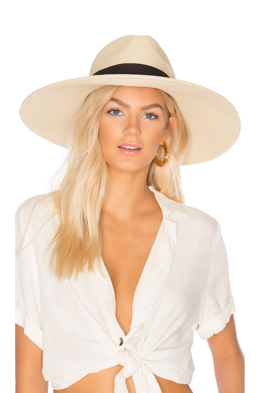 1a0131e66 Hat Attack Fine Braid Inset Continental Hat in Natural & Black | REVOLVE
