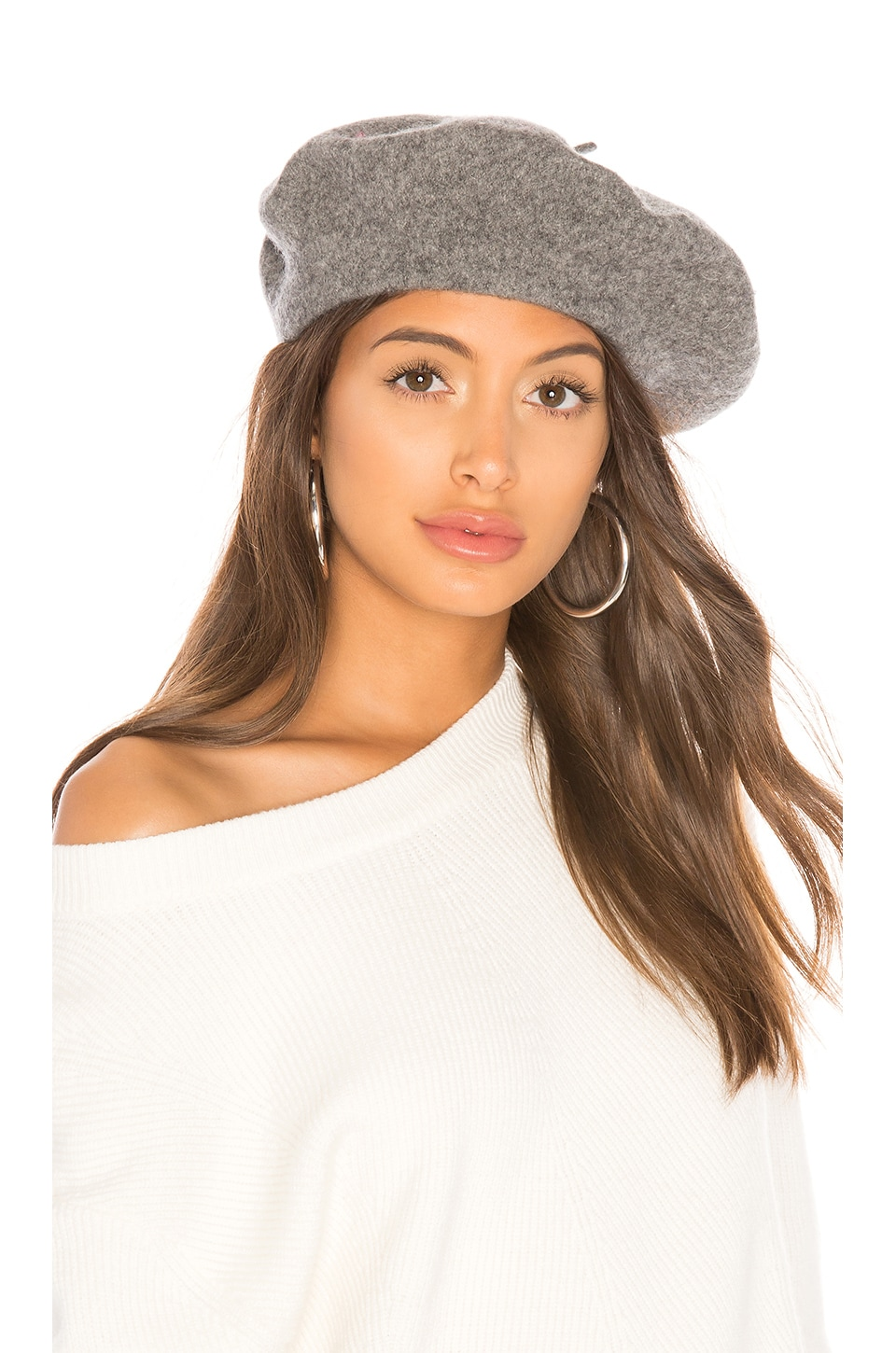 Hat Attack Wool Beret in Charcoal