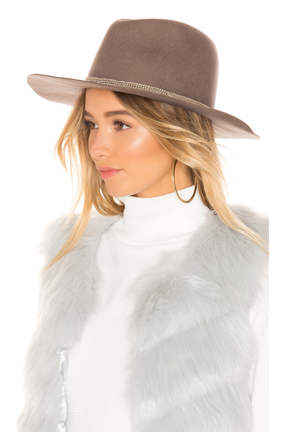Hat Attack Kelsey Hat in Taupe & Sparkle