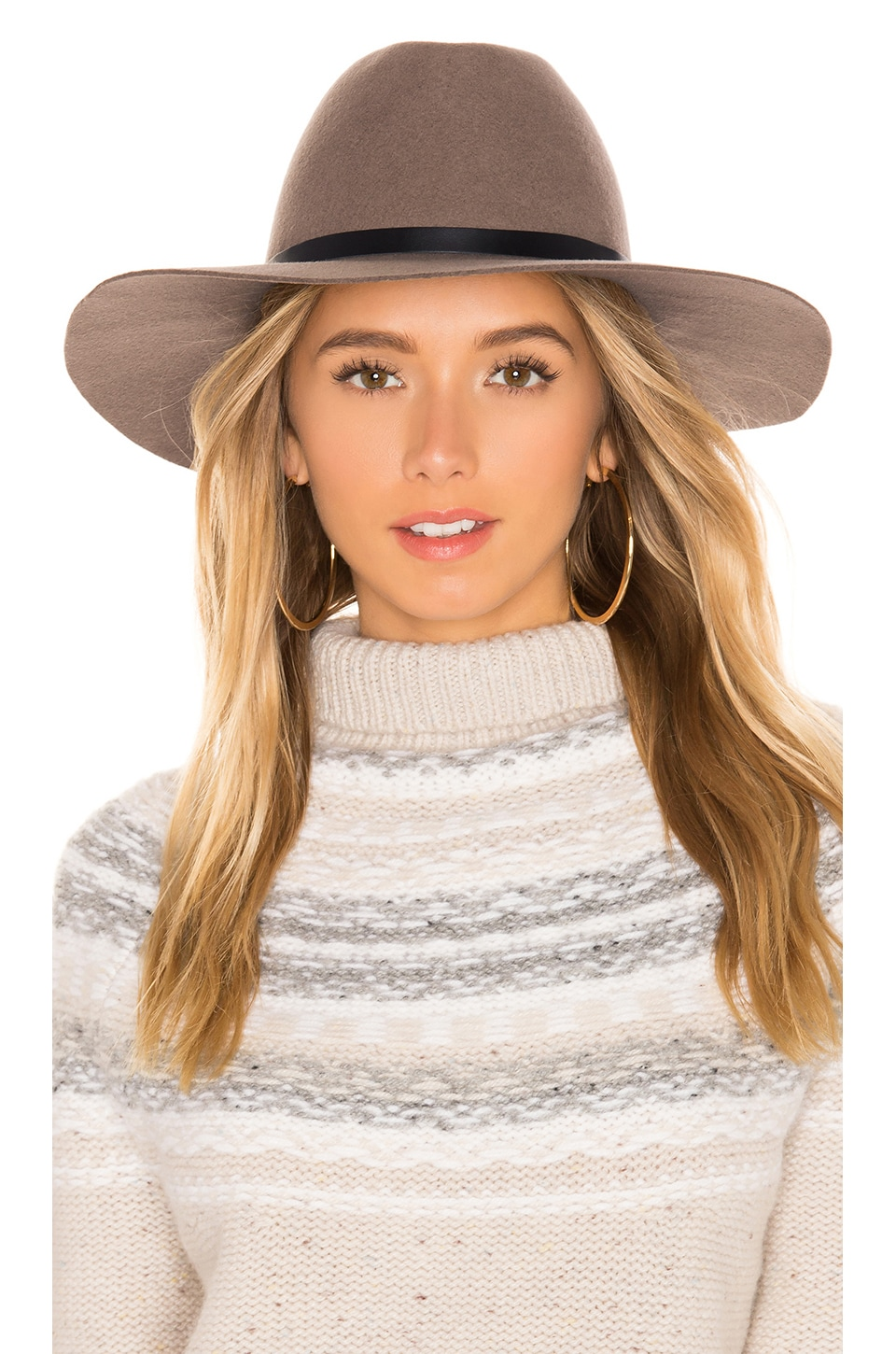 Hat Attack Cameron Hat in Taupe & Black