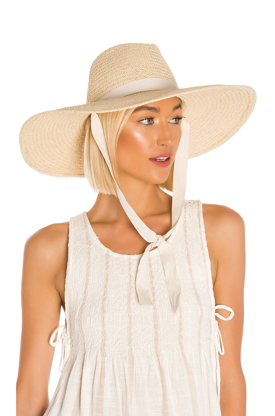 Hat Attack Jules Chinstrap Sunhat in Ivory