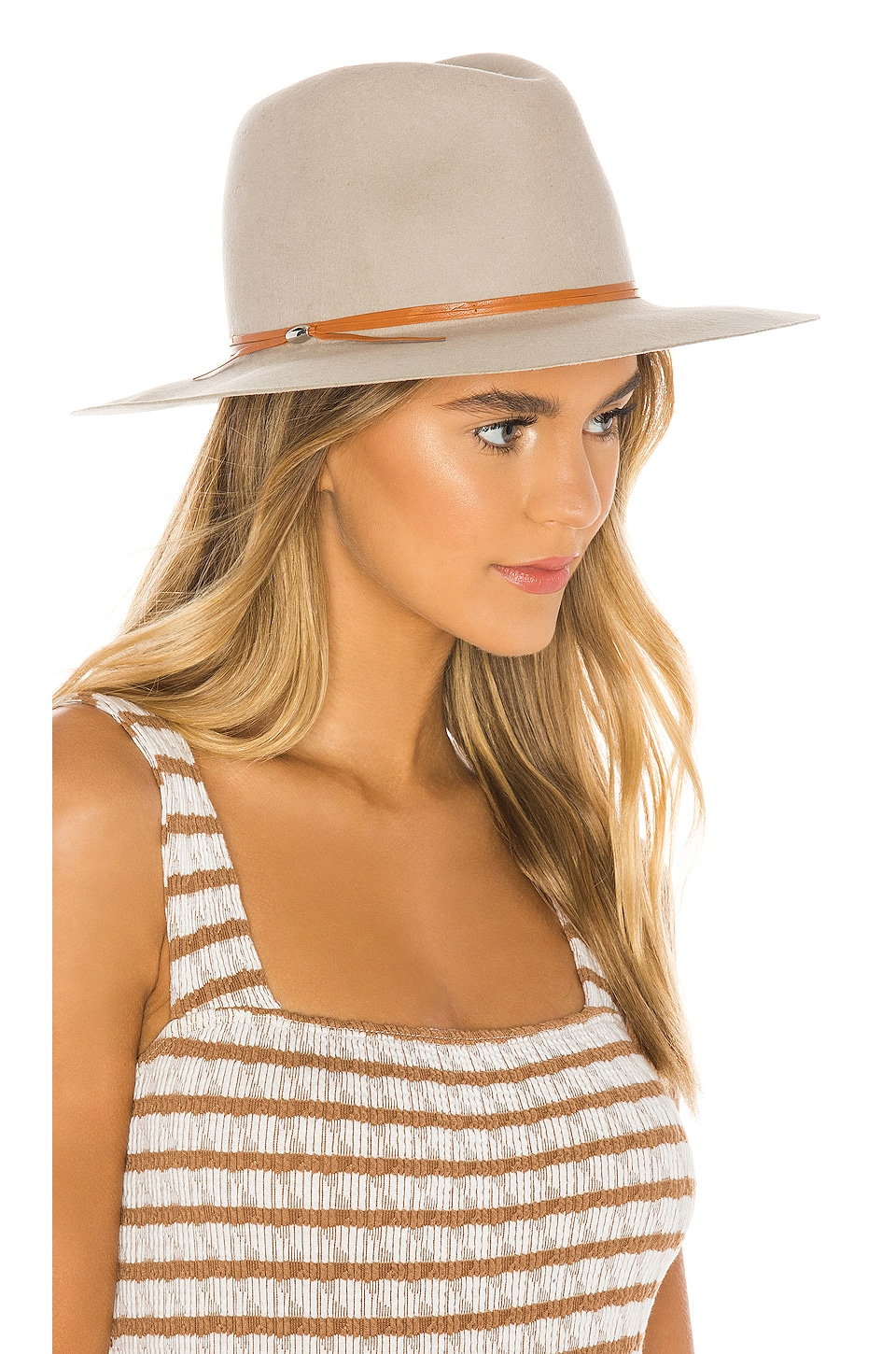 Hat Attack Madison Hat in Beige & Tobacco & Beads