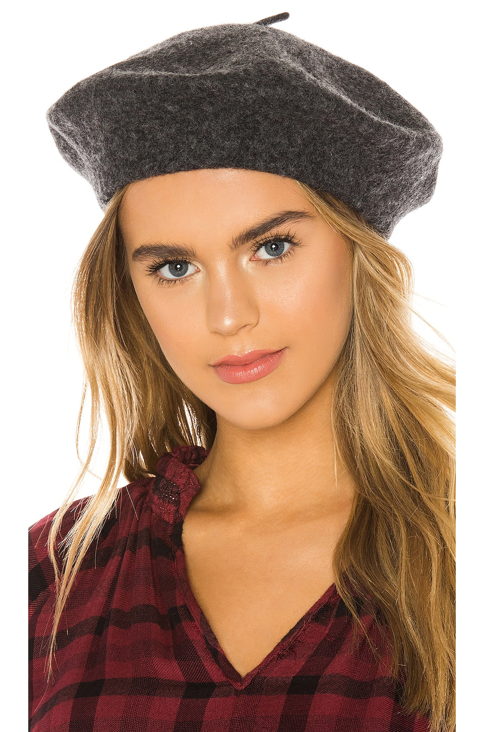 Hat Attack Classic Wool Beret in Charcoal