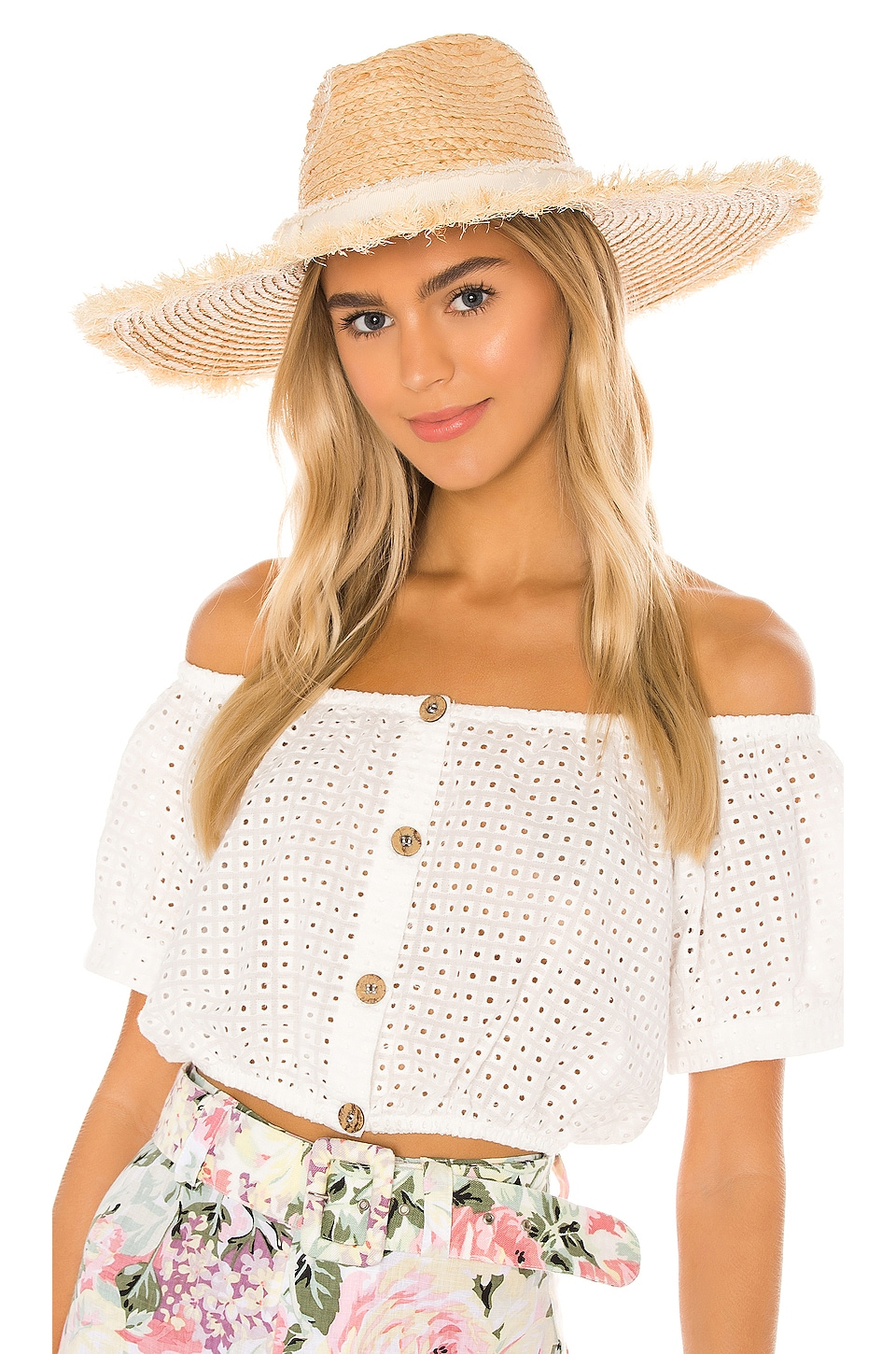 Hat Attack Coverup Sunhat in Natural & Ivory