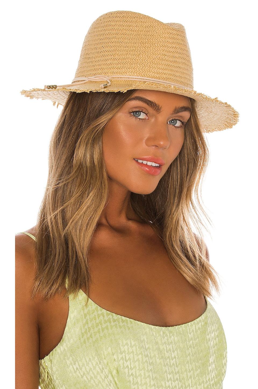 Hat Attack Fringe Travel Hat in Toast & Blush