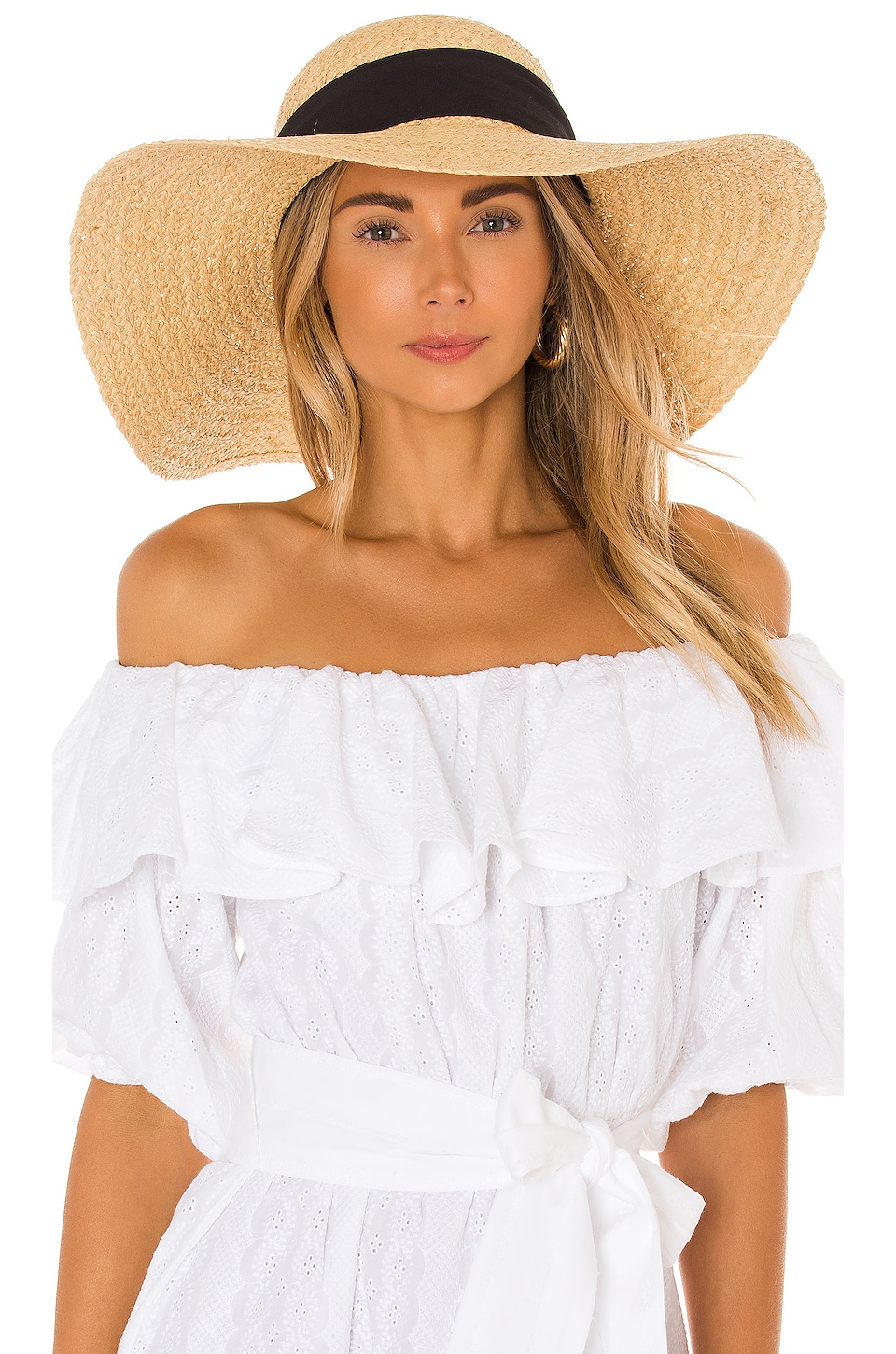Hat Attack Avalon Sunhat in Natural & Black