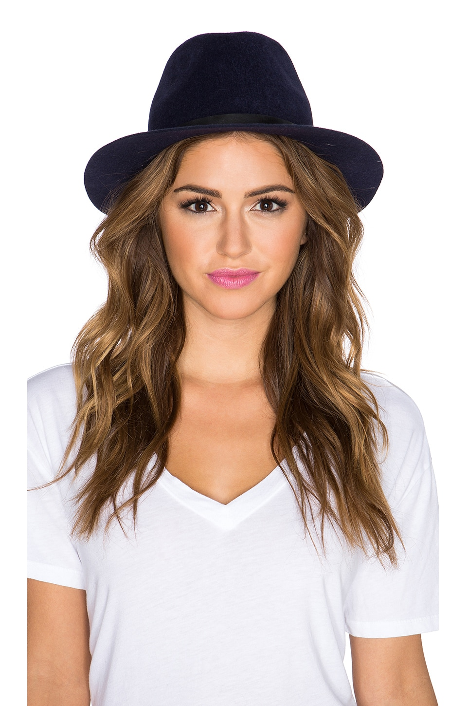 Hat Attack Luxe Classic Hat in Navy & Black Buckle