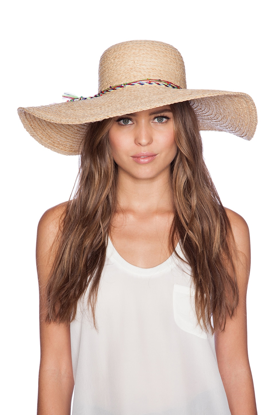 Hat Attack Sunhat in Natural & Multi