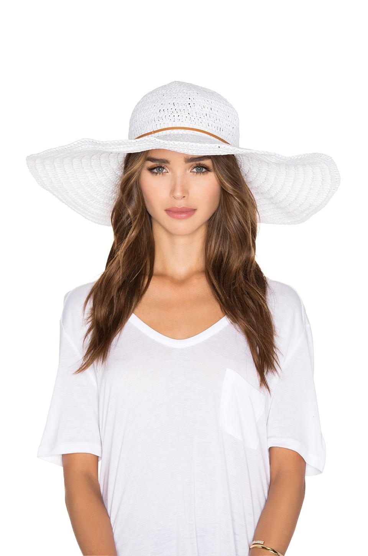 White Ibiza Sunhat at REVOLVE