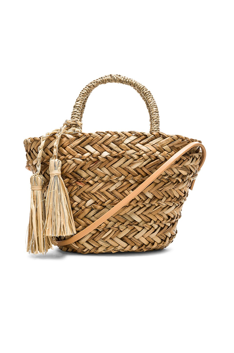 Hat Attack Petite Seagrass Tote in Natural