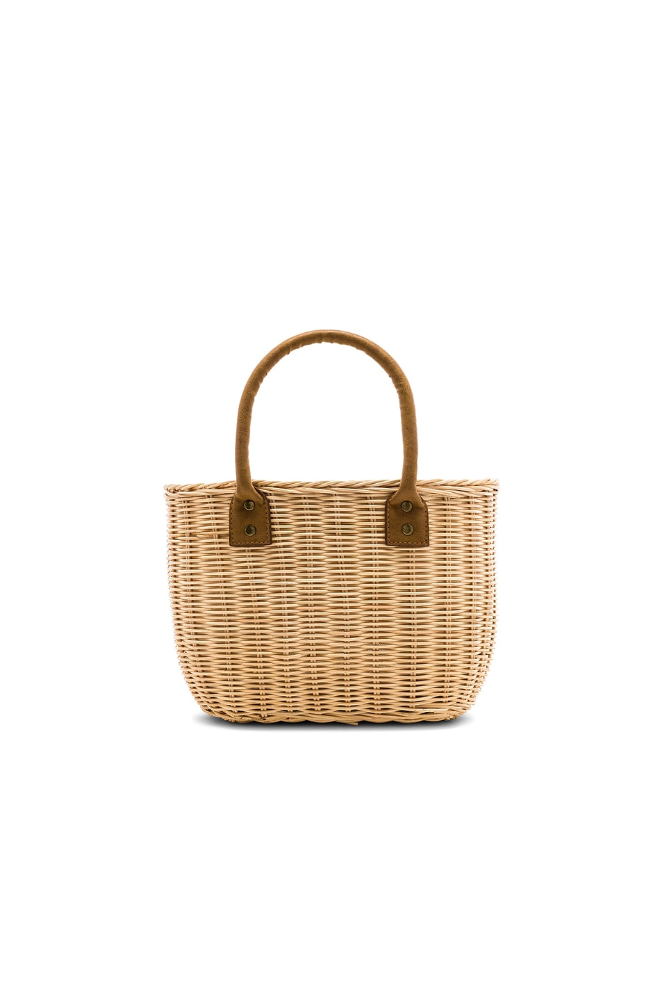 Hat Attack Wicker Small Basket Bag in Natural