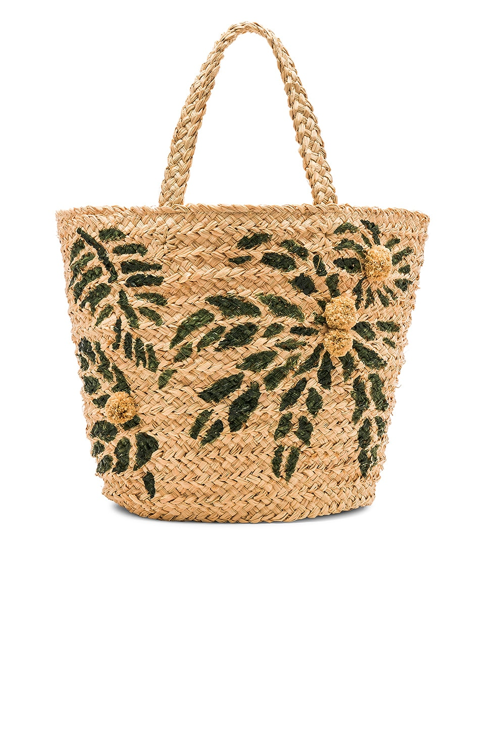 Hat Attack Painted Palm Tote in Natural