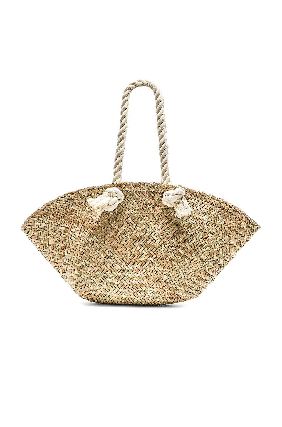 Hat Attack Rope Handle Market Basket Bag in Natural