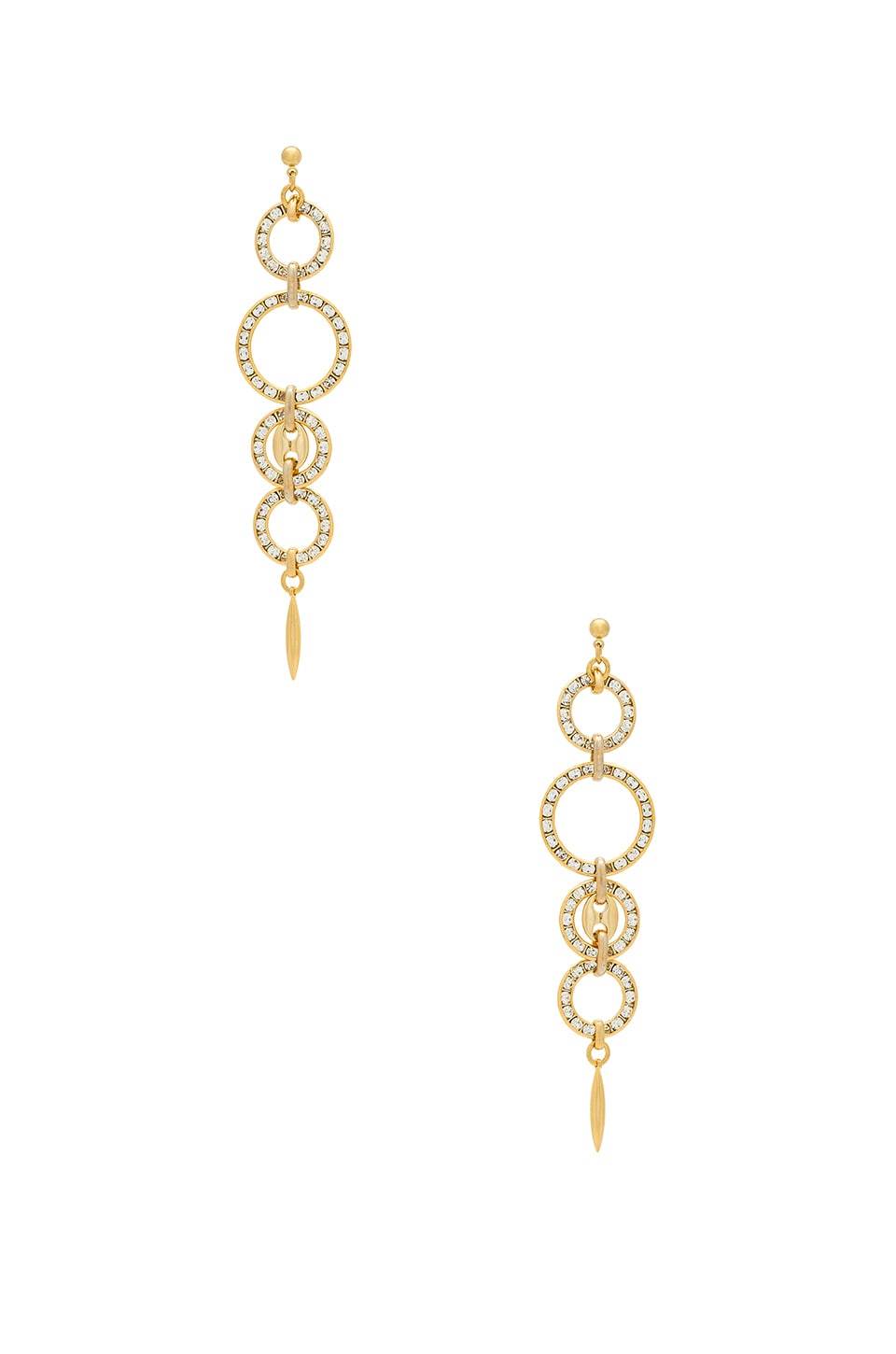 Haus Of Topper Linked Circle Earring in Gold