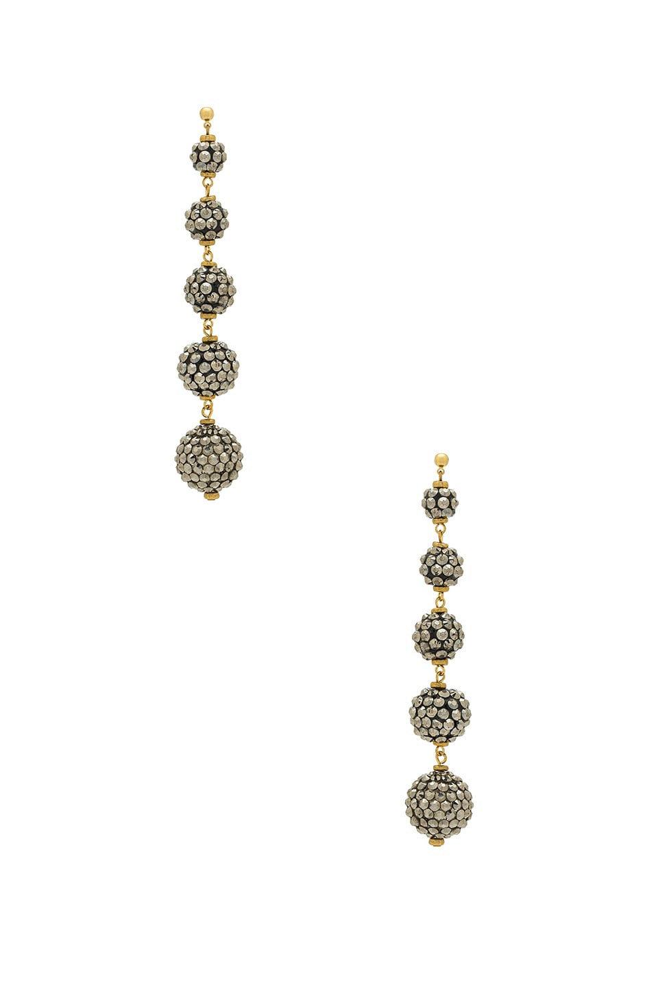 Haus Of Topper Cascading Spheres Earring in Grey