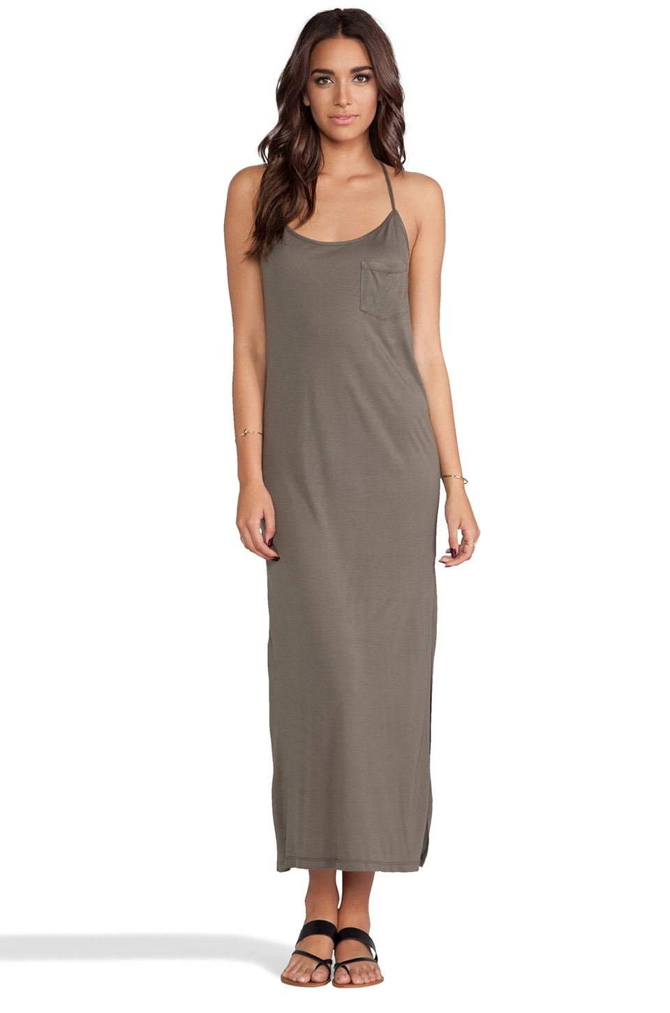 Haute Hippie Racerback Gown in Military