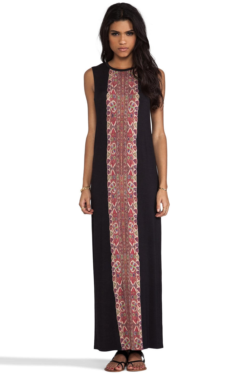 Haute Hippie Printed Muscle Tank Dress in Back & Multi