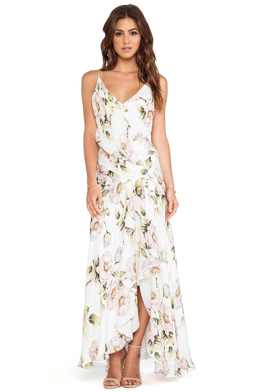 Haute Hippie Falling Petal Gown in Swan Multi