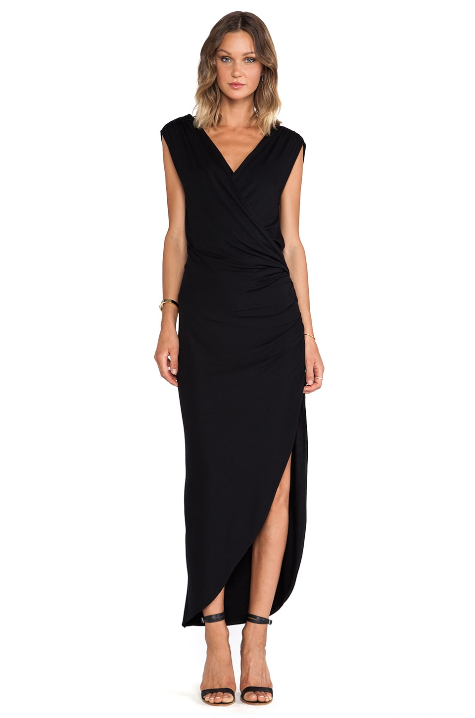 Haute Hippie Asym Dort Dress in Black