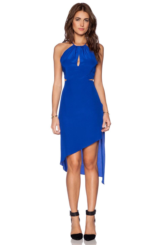 Haute Hippie Twist Back Dress in True Blue