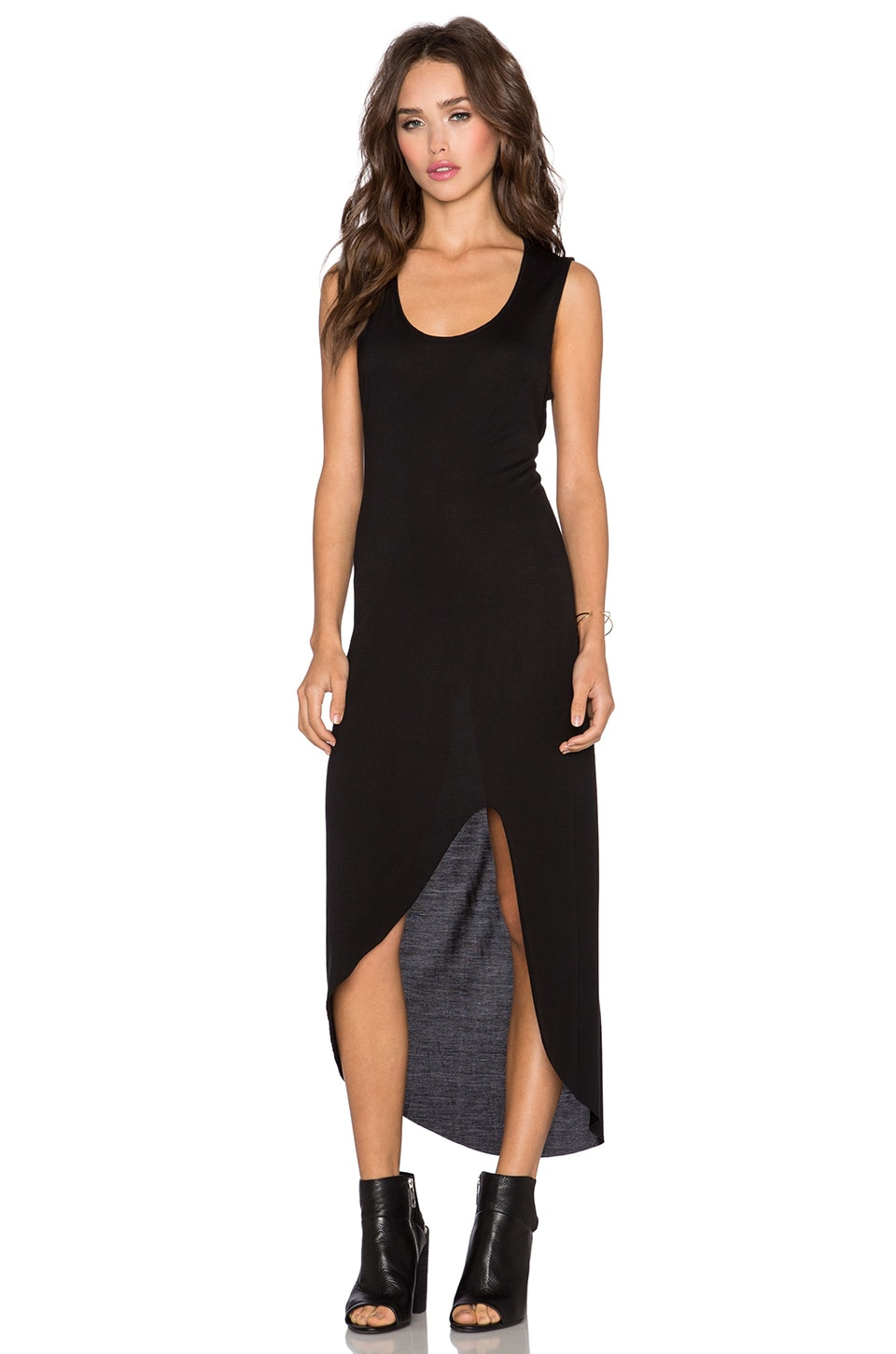 Haute Hippie Back Cut-Out Dress in Black