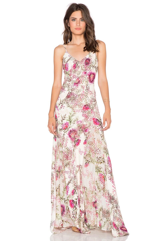 Haute Hippie Godet Slit Gown in Wildflower | REVOLVE