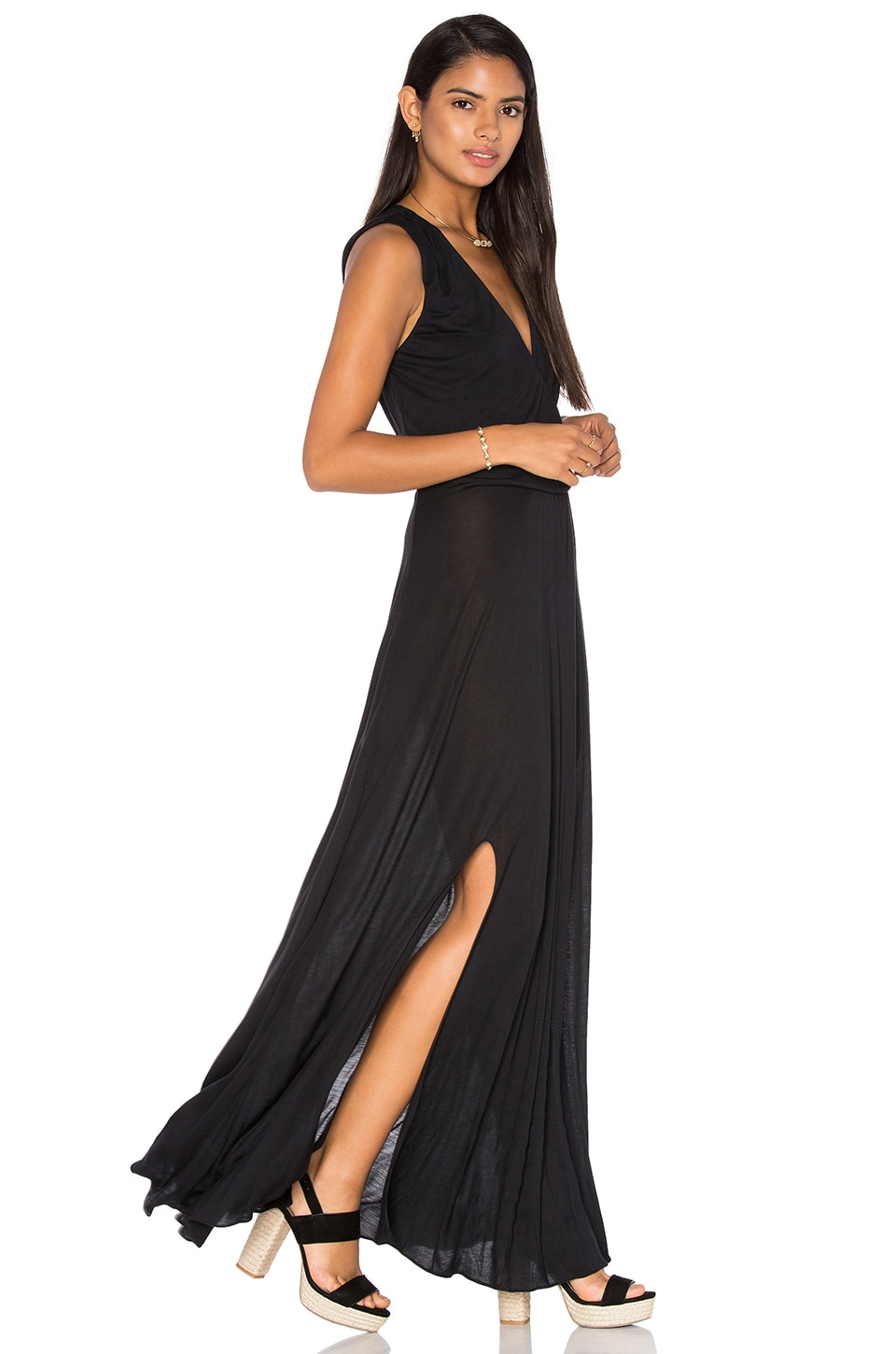 Modal Drape Front Dress by Haute Hippie