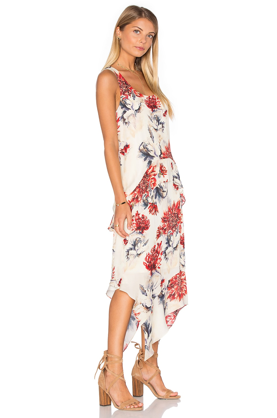 Ruffle Hem Tank Dress by Haute Hippie