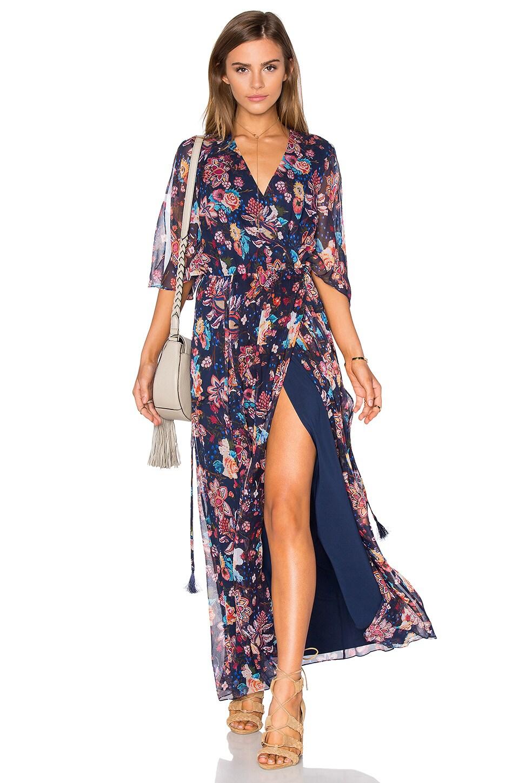 Flutter Sleeve Maxi Dress by Haute Hippie